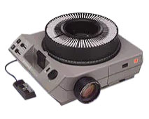 an image of an old-style slide projector